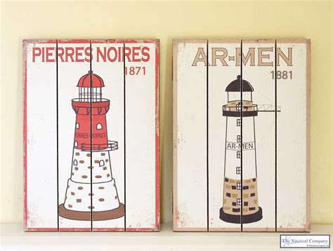 lighthouse wall decor wooden picture nautical the nautical company uk
