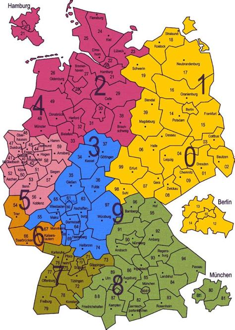 Plz Gebiete Karte