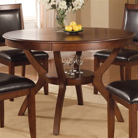 Shop Coaster Fine Furniture Nelms Walnut Round Dining
