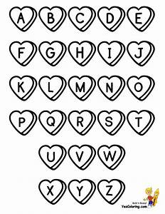 sweet valentine alphabet coloring alphabet free With letter pictures alphabet