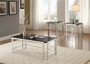 Watt 3 piece occasional table set with shelf chrome for Furniture mattress outlet of sanford
