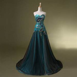 peacock prom dresses formal evening cocktail ball gown With prom dress as wedding dress