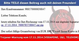 Telekom Rechnung Fake : trojaner warnung anbei erhalten sie ihre rechnung vom ~ Themetempest.com Abrechnung