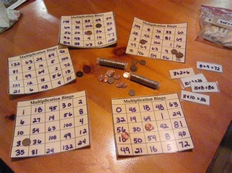 homemade math bingo game thriftyfun