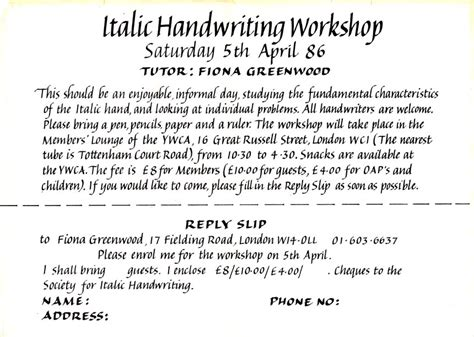 society  italic handwriting articles