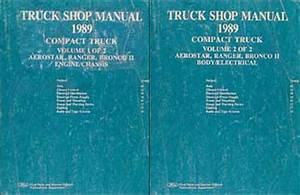 1989 Ford Service Specs Book Ranger Bronco Ii Aerostar