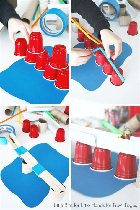 building bridges engineering activity pre k pages 323   Building Bridges with Cups and Popsicle Sticks