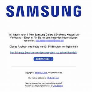 Samsung Galaxy S9 Kosten : e mail mit samsung galaxy 9 f hrt in abofalle ~ Jslefanu.com Haus und Dekorationen