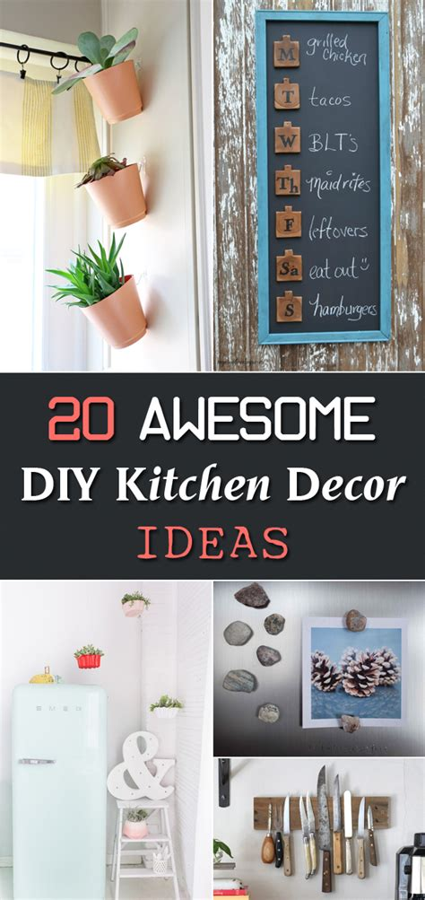 diy kitchen decor ideas 20 awesome diy kitchen decor ideas