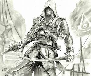 Tutorial to draw assassins creed 4: black flag step by ...