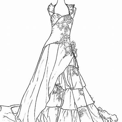 Coloring Pages Dresses Printable Outfit Sheets Colour
