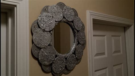dollar tree diy decorative wall mirror youtube