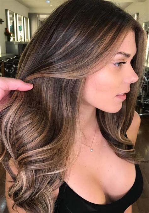 Colors Brunettes by 62 Brilliant Balayage Hair Color Trends For 2018