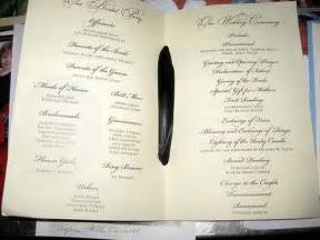 Church Wedding Program Templates