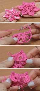 How To Crochet 6 Petal Flower Pattern