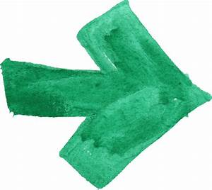 8 Green Watercolor Arrow (PNG Transparent) | OnlyGFX.com