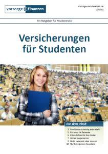 Vorsorge Versicherungen Fuer Studenten Und Azubis by Versicherung Steuer Co Fachschaft 05