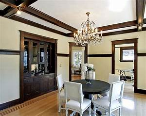 great dining room with dark trim for the home pinterest With dining room paint colors dark wood trim