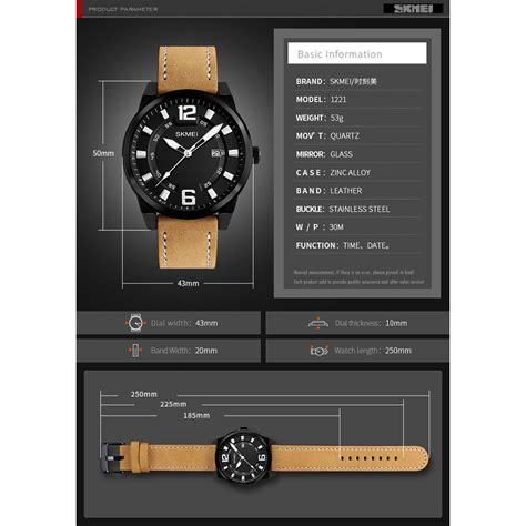 Jam Tangan Guess Kulit Black skmei jam tangan kulit pria 1221 black