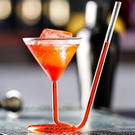 bicchieri martini rotate martini glass vaso straw cup bar wedding
