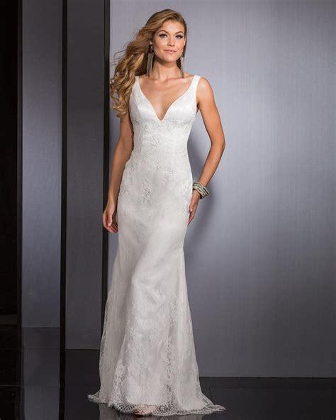 beautiful bride in v-neck sheath - Google Search | Online ...