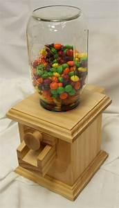 Hand-made Wooden Candy Dispenser - M&M Peanut Skittles