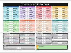 20 calendarios del Mundial de Fútbol 2018 para descargar e