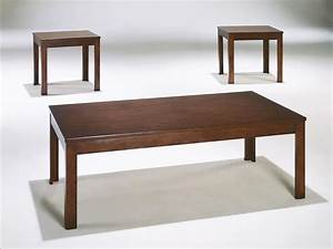 3 pieces modern rectangular cocktail coffee end side table for Modern cherry coffee table