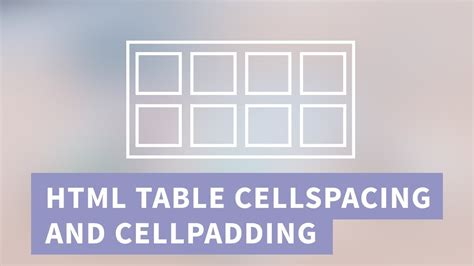 html table cellspacing and cellpadding in css