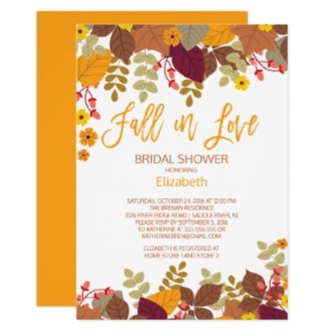 rustic vintage wedding invitations fall bridal shower invitations announcements zazzle