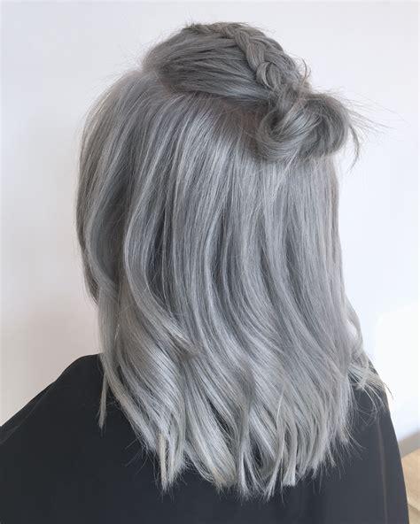 Grey Hair Silver Hair Bun Follow Us On Instagram