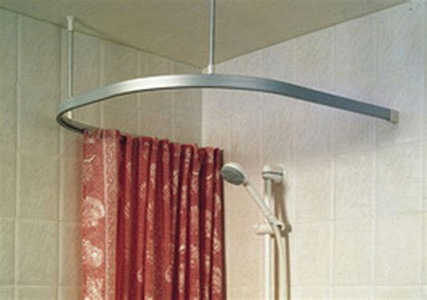 new c u shower curtain rail pole rod track 900mm chrome ebay