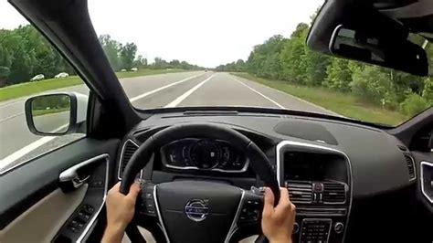 volvo xc  drive  platinum wr tv pov test drive