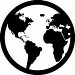 Globe Icon Earth Svg Vector Silhouette Clipart