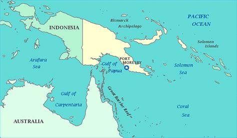australia  papua  guinea map
