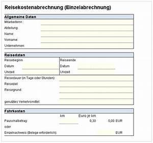 Abrechnung Fahrtkosten Formular : reisekostenabrechnung einzelabrechnung excel vorlagen shop ~ Themetempest.com Abrechnung