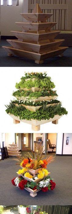 Pyramid Planter, Herb Garden, Strawberry Planter, Vertical