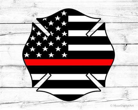 So if you have adobe illustrator, you should use that to open it. Thin Red Line Svg Fire Dept Badge Svg US Flag Svg ...