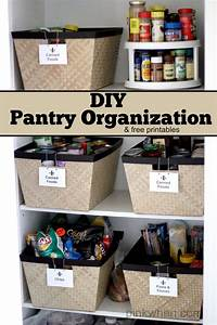 Diy pantry organization project simple mothers and the for Diy pantry organization ideas