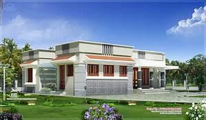 Single floor budget home design in 1300 sq.feet