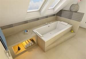 Badewanne Kleines Bad : badewanne unter der schr ge quer bad pinterest schr g badewannen und badezimmer ~ Sanjose-hotels-ca.com Haus und Dekorationen