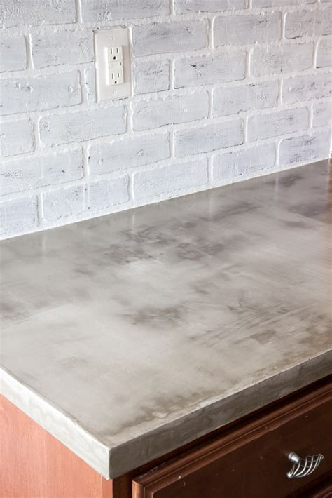 DIY Feather Finish Concrete Countertops   Bless'er House