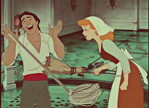 disney crossover images Cinderella and Eric Cleaning HD ...