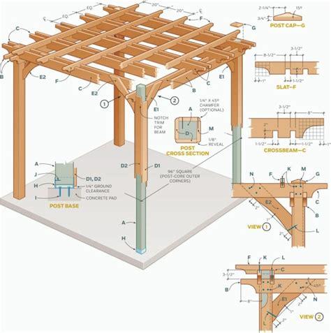 construire une pergola en bois plan de fabrication projet best pergolas and
