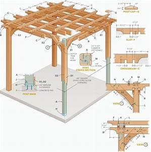 Construire Une Pergola En Bois : construire une pergola en bois plan de fabrication ~ Premium-room.com Idées de Décoration