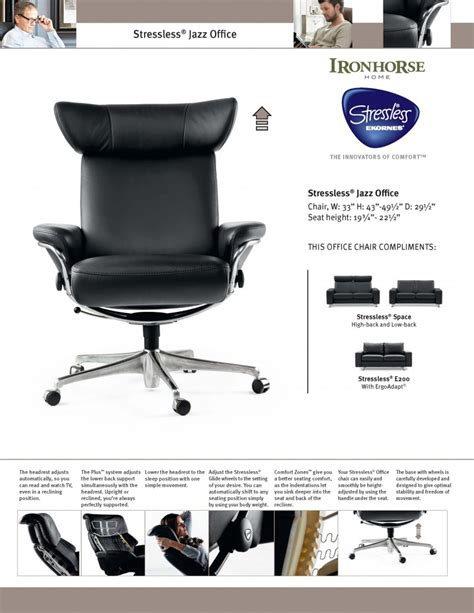 Stressless Jazz Home Office by Stressless Offfice Ironhorse Home Furnishings