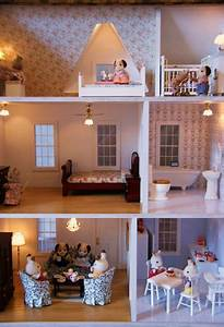 Finished Version Of Vermont Farmhouse Jr Dollhouses