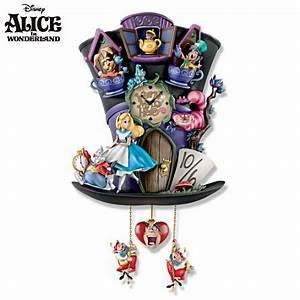 Hutmacher Alice Im Wunderland : alice wonderland clock alice in wonderland 39 mad hatter ~ Watch28wear.com Haus und Dekorationen
