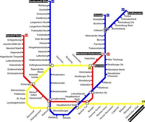 hamburg subway map toursmapscom