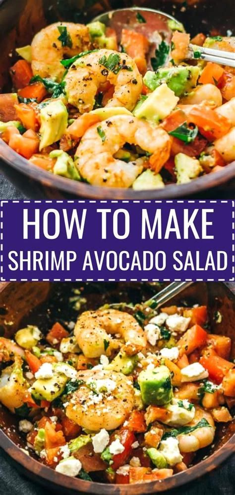 I even sprinkled paprika as final touch. Here's a delicious and healthy cold shrimp salad with avocado, tomatoes, feta cheese, and lemon ...